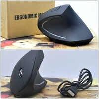 Ergonômico Mouse sem fio Camundongos Verticais Ergonômico Vertical Optical Mouse Wrist Cura Sem Fio Kit Para PC Portátil Novo Jogo 2019