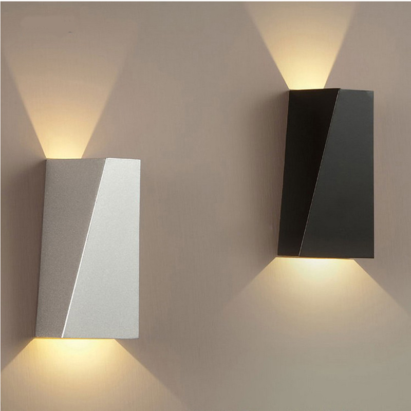 Led Square Wall Lamp Bedroom Headlamp Double Headlamp