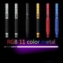 11 Color Lightsaber Metal Sword RGB Laser Cosplay Boy Gril Toy Luminous Kids Gift Light Outdoor Creative Wars Toys Stick Saber все цены