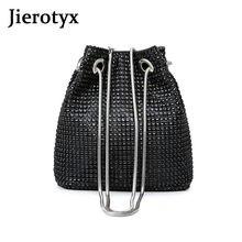 Jierotyx Сексуальная Мини сумка Кроссбоди с кристаллами для