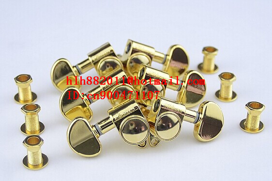 free shipping new electric guitar and acoustic guitar 3L+3R tuning peg  guitar button in gold  WJ-303  N9 цена и фото