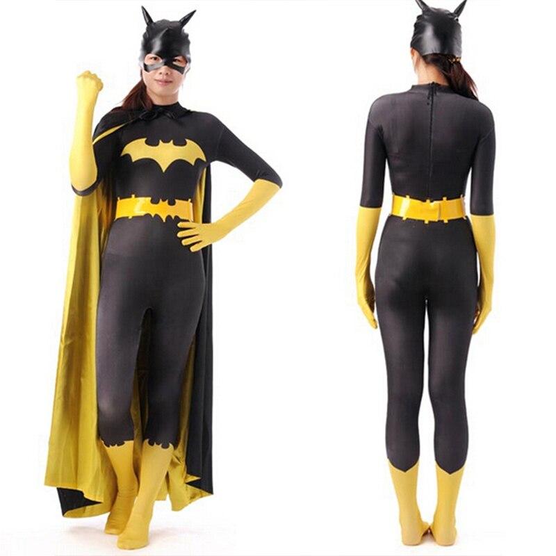 High Quality Batman Spiderman Halloween Costumes For Men Women Adult Child Lycra Spandex Zentai Anime SuperHero Cosplay Vestidos