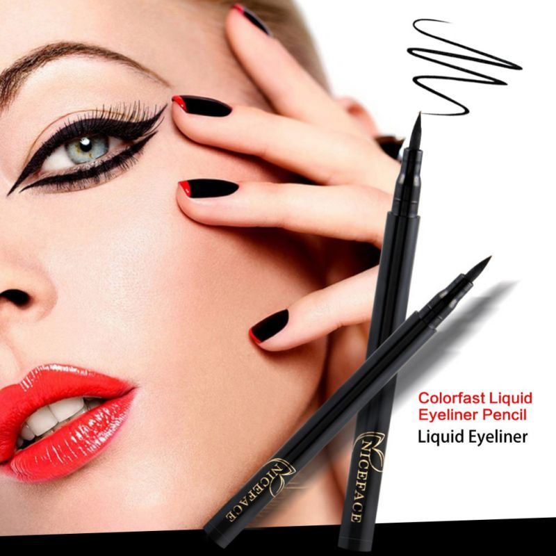 Black Eyeliner Pencil Waterproof Quick Dry Liquid Eye Liner Pen Long Lasting Cat Perfect Smooth Lines Eye Makeup mhujhn