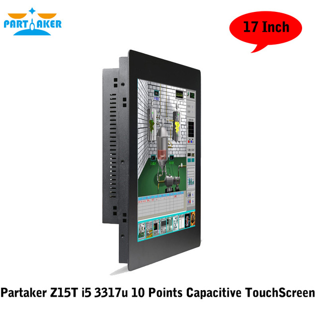 17 Inch Partaker Desktop Computer All In One With 10 Points Capacitive Touch Screen I5 3317U