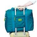 Cubos de Embalagem de viagem de Nylon Grande Capacidade de Dobrar Saco Weekender Duffle Saco De Viagem Das Mulheres Dos Homens Sacos De Viagem Bagagem X032