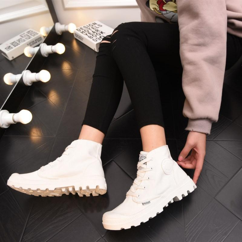 Noir Martin Des Femmes Bottes Et Printemps Automne Chaussures rouge dessus blanc Plate Blanc Haut gris 2018 forme De Toile qCFZ7gwxw
