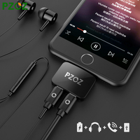 PZOZ For IPhone 7 Plus Cable Audio Adapter Fast Charge And Call Double Lightning And Aux