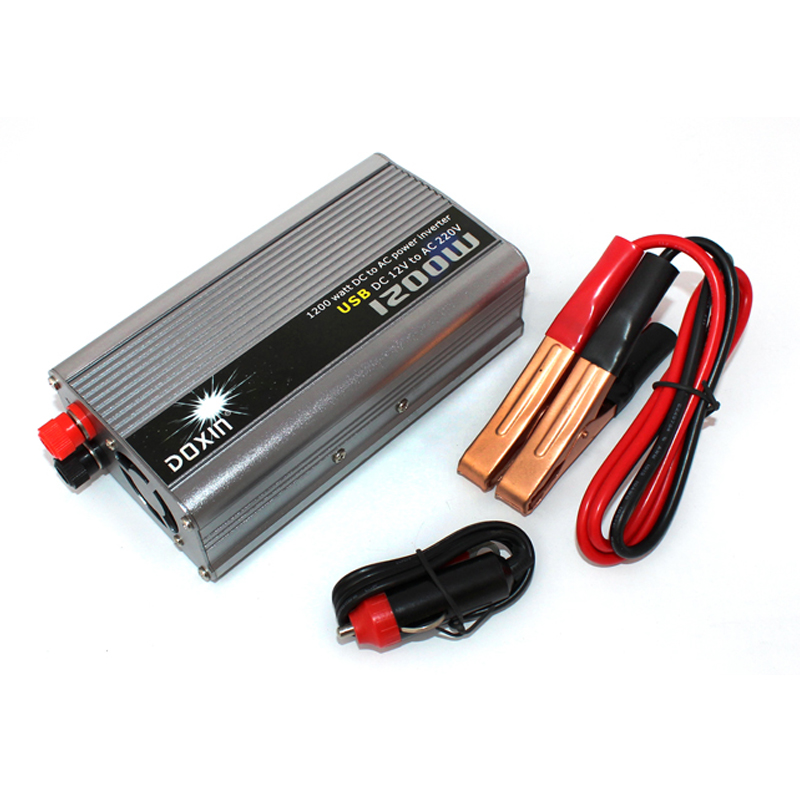 1200W Vehicle Inverter 12V DC To 220V AC USB Power Converter Power Supply Household Power Adapter утюг home element he ir213 красный гранат