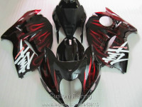 Free 7 Gifts Fairing Kit For Suzuki GSXR1300 96 97 98 99 00 01 07 Red