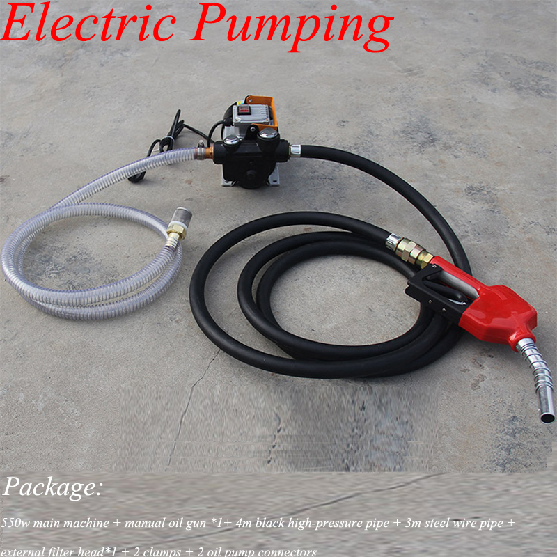 Professional Electric Oil Exchange Transfer Pump Suction Transfer Fuel Diesel Pump Self-priming Electric Refueling Drum Pumping