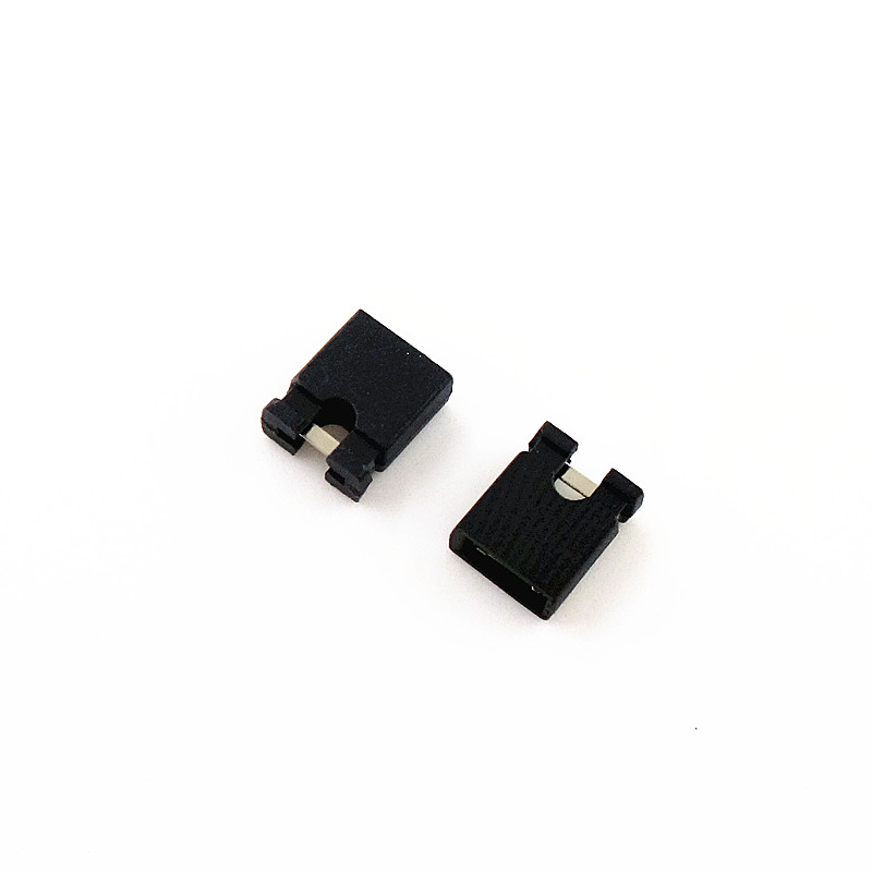 100PCS Pitch 2.54mm Pin Header Shorting Cap Jumper Cap Short Block Black