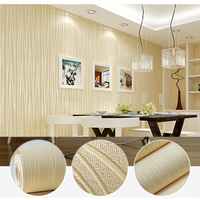0 53 5M Self Adhesive Non Woven Wallpaper Modern Stripes Vinyl Wall Paper For Bedroom Living