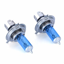 Mayitr 2pcs 12V 60/55W 5000K H4 Universal Diamond Vision Super White Car Headlight Lamp