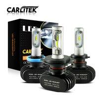 Carlitek n1 12 فولت h4 h7 المصابيح الثنائيات سيارات 50 واط 8000LM السيارات h1 h8 h9 h11 hb3 hb4 led الأمامية قيادة السيارات الضباب الخفيف
