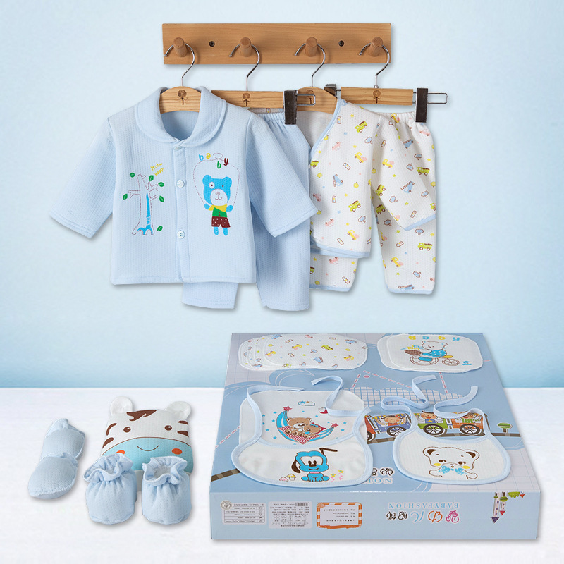 Autumn Winter Cotton Thickness Warm Newborn Clothing Set Baby's Gift Set Infant Delicate Clothes Suit Unisex Child Accessories цена
