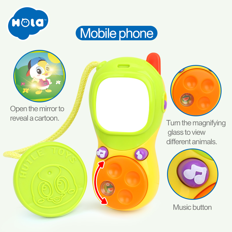 HUILE TOYS 3111 Baby Carriage Stroller Bar Musical Toy Sets Educational Mobile Telephone / Camera / Drum / Guitar Baby Rattles