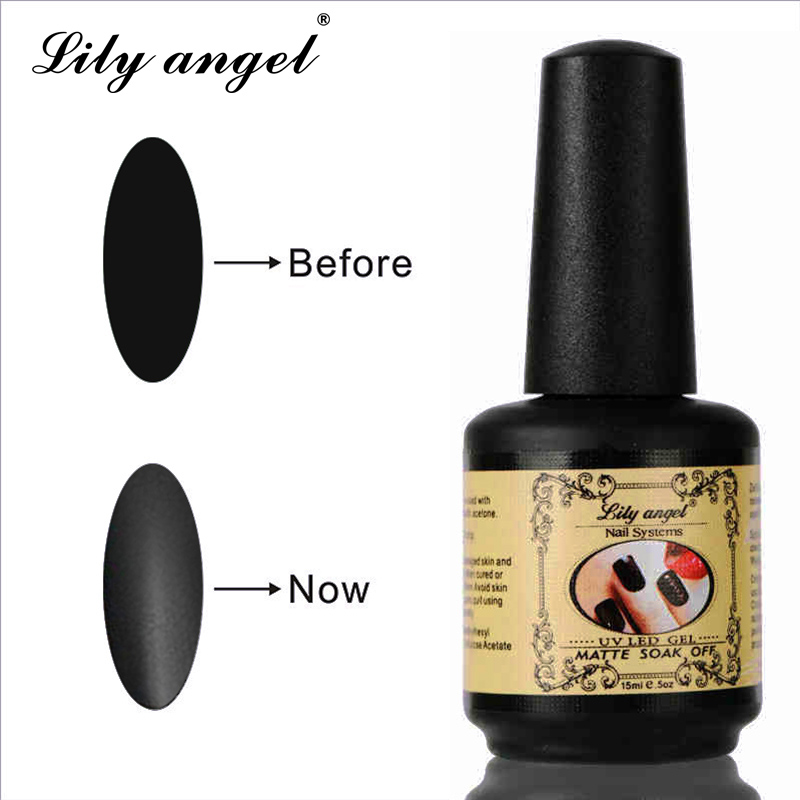 LiLY ängel 15ML Nail Polish Magic Super Matte Transparent Nails Art - Nagel konst