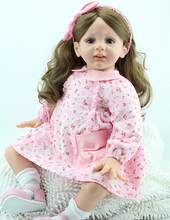 24 inch Hot-selling lovely vinyl girl gift baby doll