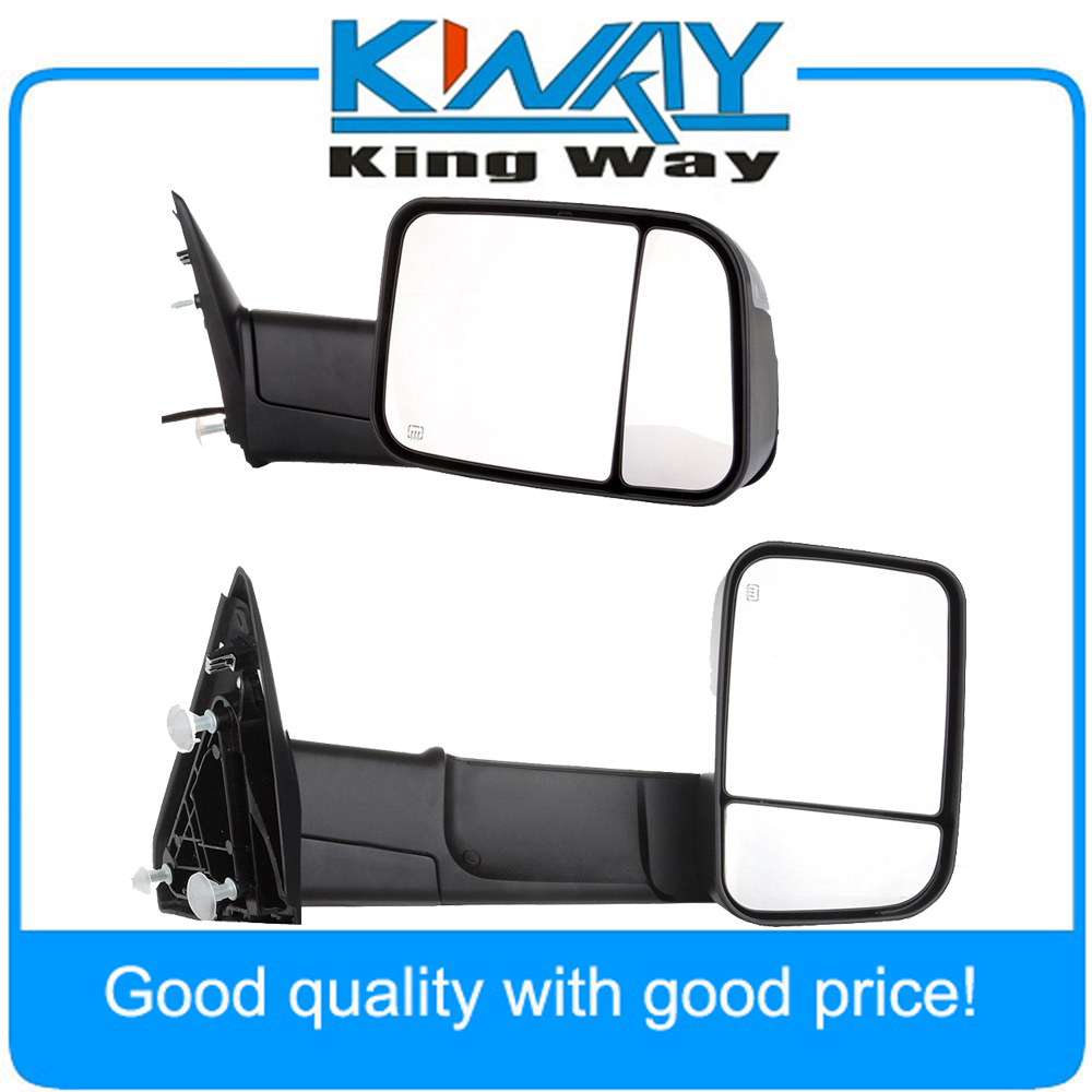Pair Chrome Power Heated Towing Mirrors Fit For 2009 2015 Ram 1500 Pickup Signal Light