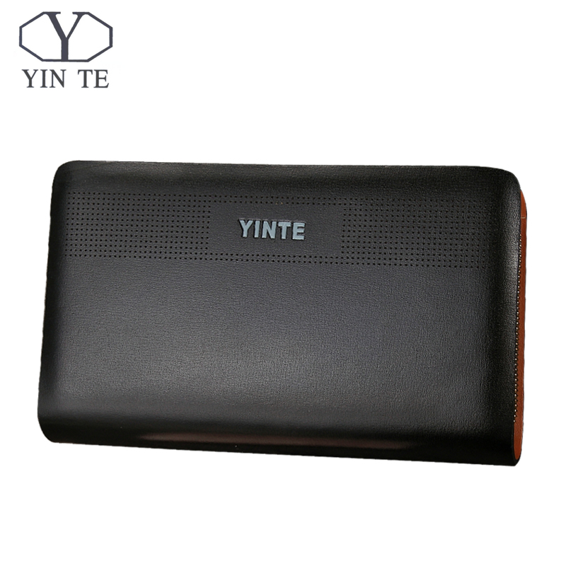 YINTE Men Clutch Wallets Long Zipper Male Wallet Leather Wallet Men Purses Wallet Male Clutch Handy Bag Portfolio C8106-5