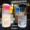 New Fruit Infuser Water Bottle Korea Style Pormise Me Plastic Lemon Juice Cup Leak Proof Bottle With Tea Infuser 750ML Transhome