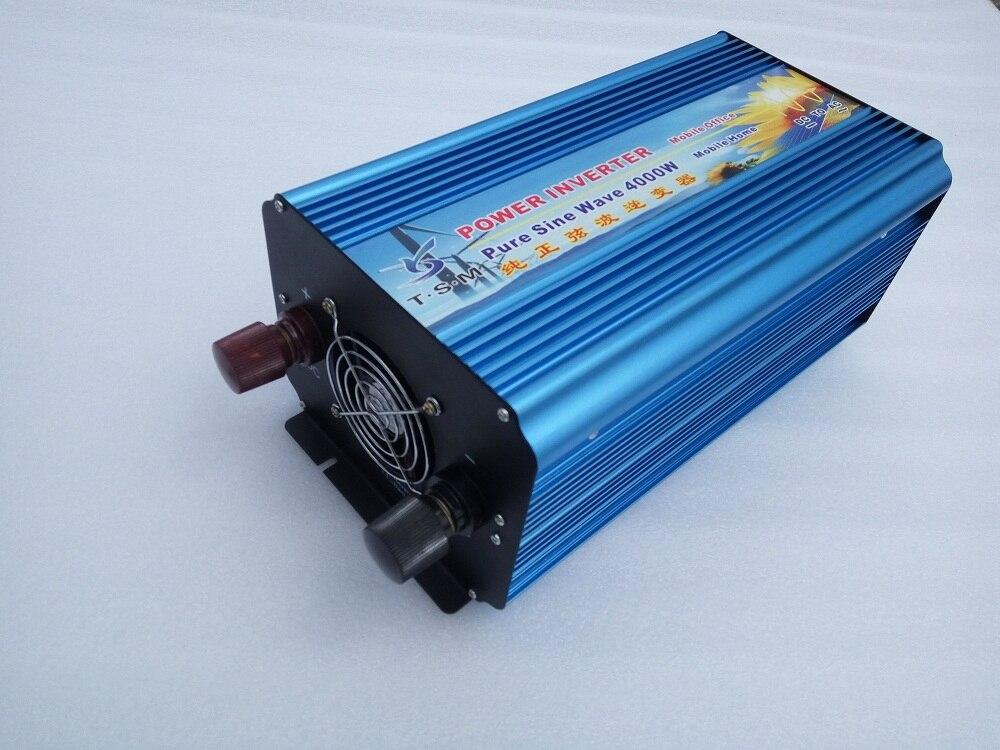 цена на 4000W DC12V/24V/48V to AC 110V/220V dual digital display peak power 8000W Pure Sine Wave Inverter