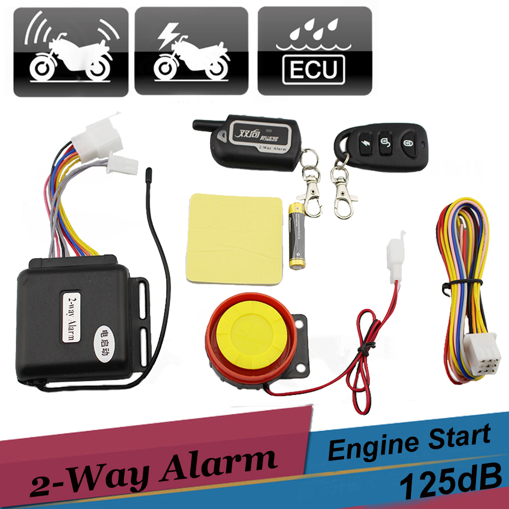 Two Way Motorcycle Scooter Alarm Remote Control Engine Start Vibration Alarm Universal Anti-theft Security System 12v цена 2017