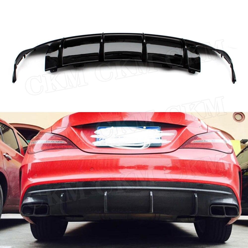 Diffuseur de lèvre de pare-chocs arrière en Fiber de carbone pour Mercedes Benz CLA classe W117 CLA180 CLA200 CLA250 CLA260 CLA45 2016 2017 2018