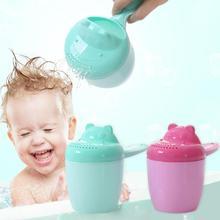 Детская душевая чашка с милым мультяшным рисунком для мытья волос, спринклерная насадка для ванны, инструмент для ванны, товары для душа, чашка для мытья детей