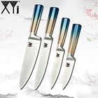 XYj Handmade Stainless Steel Knife Fruit Utility Slicing Chef Kitchen Knife Set Japanese Chef's Cooking Tools Gradient Handle