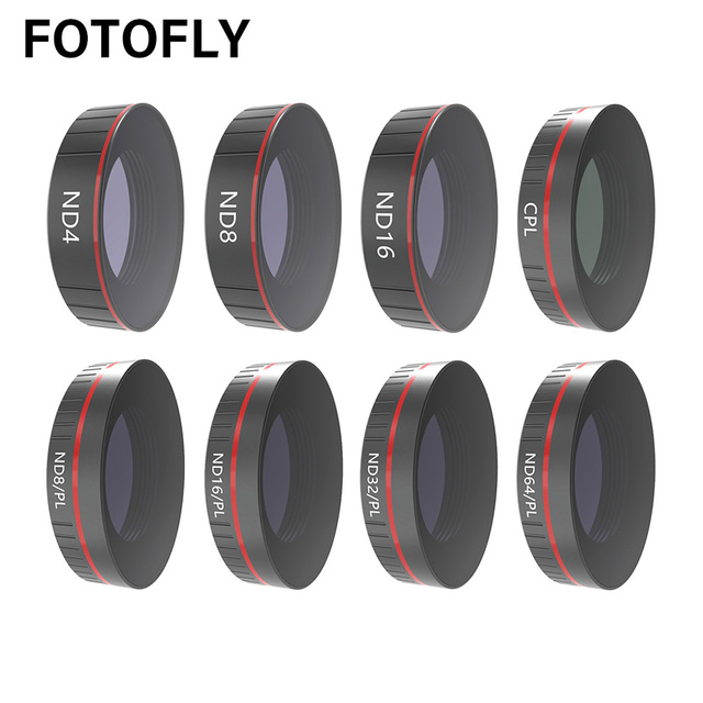 For DJI Osmo Action Camera Lens Filter UV/CPL Polarizing/ND 4 8 16 32 64 1000 Filters Set For Osmo Action Lenses Accessories