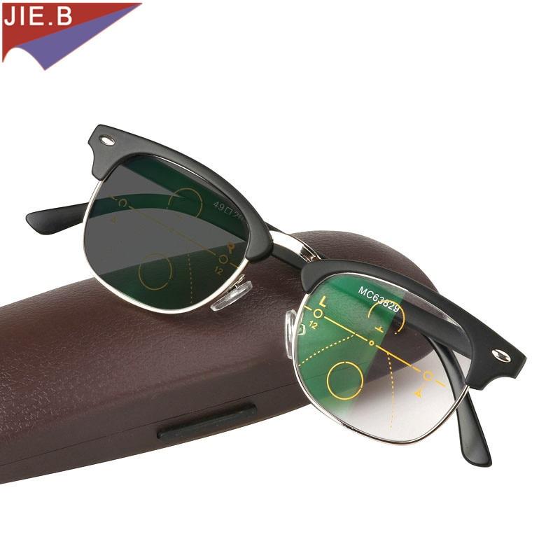 fe168b4628 Dropwow 2017 Vintage Transition Sun Photochromic Reading Glasses Men Women  adjustable vision With Multifocal Diopter Progressive glasse