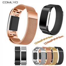 Magnetic Milanese Loop stainless steel For Fitbit charge 2 Band smart bracelet for charge 2 strap with charge2 adapter Wholesale(China (Mainland))