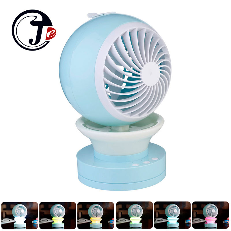Portable Table Fan Water Spray USB Fan with Humidifier Outdoor Mini Fans with LED Light Air Cooler Air Conditioning for Home
