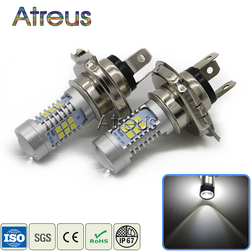 Atreus 2X Car <font><b>LED</b></font> H4 9006 1156 1157 <font><b>H7</b></font> H11 21SMD <font><b>LED</b></font> <font><b>Lamp</b></font> Fog Lights DRL 12V <font><b>with</b></font> <font><b>Lens</b></font> For Mazda 3 6 2 CX-5 For Seat Leon Ibiza image