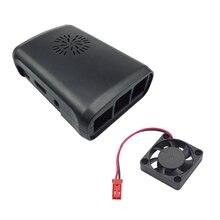 Raspberry Pi 3 Чехол белый черный прозрачный ABS Корпус чехол Shell + Процессор вентилятор охлаждения для Raspberry Pi 2 Модель B