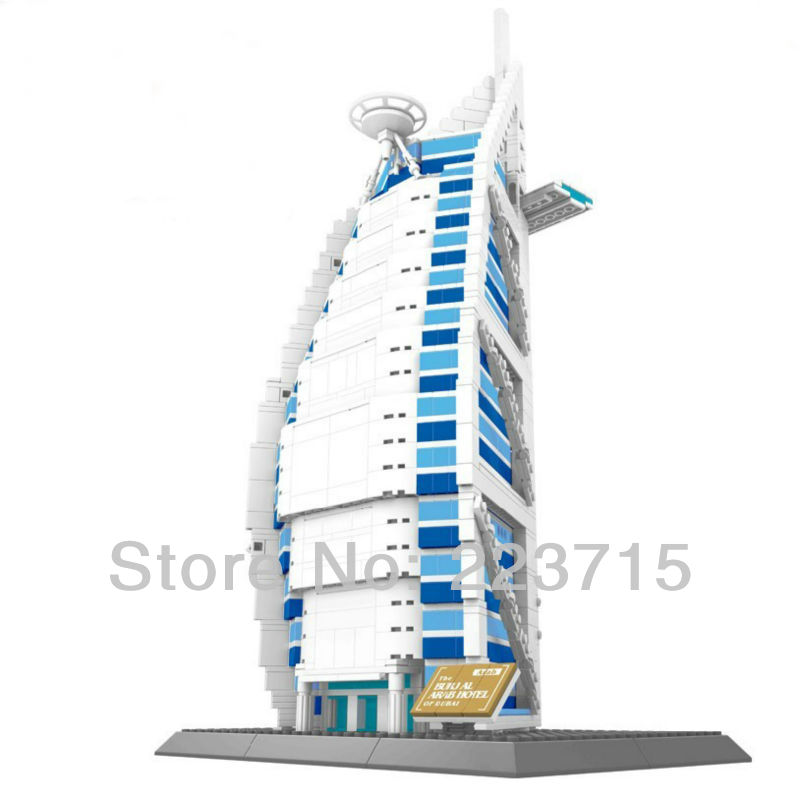 Free Shipping!*The Burjal Arab Hotel* DIY enlighten block bricks,Compatible With other Assembles Particles