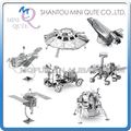 Mini Qute Piece Fun 3D outer space Mars Apollo Lunar Module Lander Satellite Hubble Telescope UFO Metal Puzzle educational toy