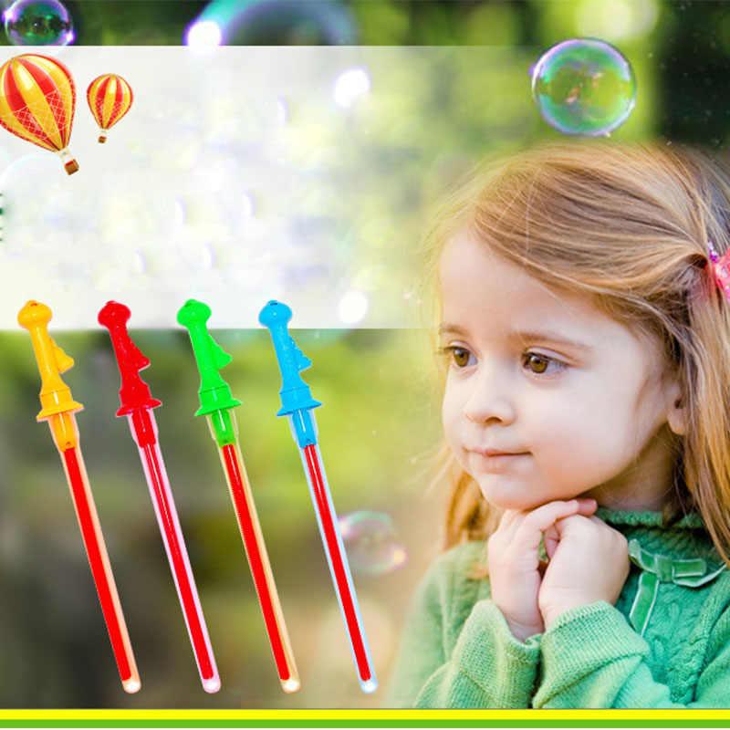 Большой размер 46 см игрушки на открытом воздухе длинные Пузырьковые пулеметы, палочки без воды, меч в западном стиле, форма для детей, игрушка для мыльных пузырей