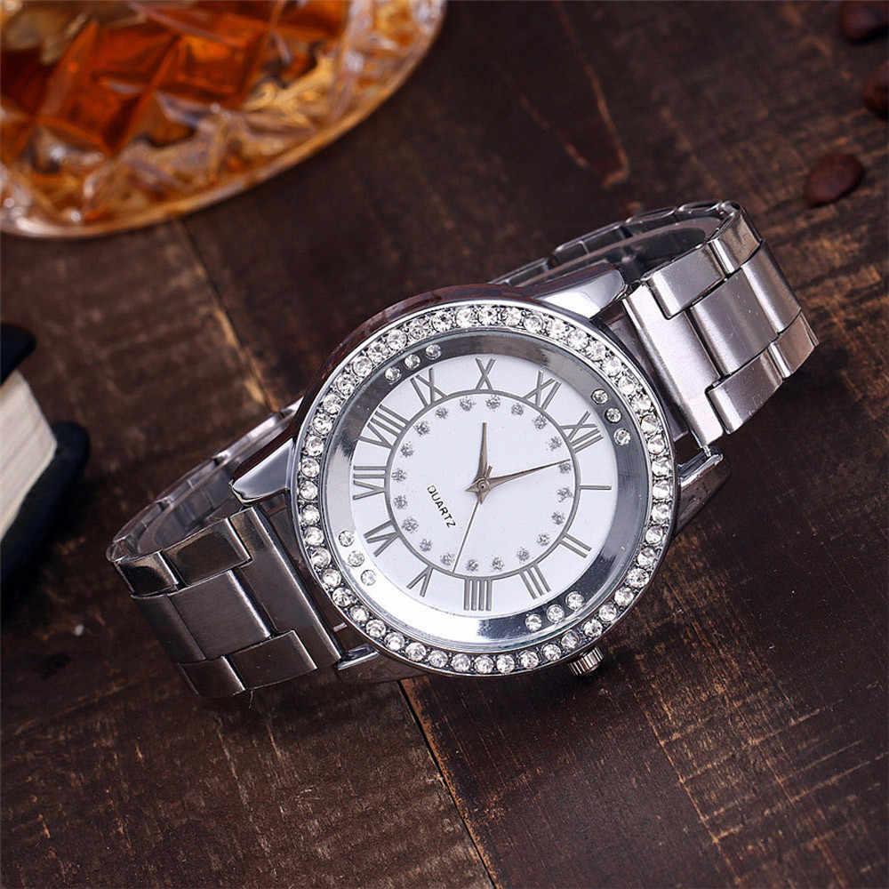 Vansvar נשים שעון מזדמן נירוסטה להקת שיש רצועת שעונים נשים של שעון אנלוגי קוורץ ווג Relogio Feminino