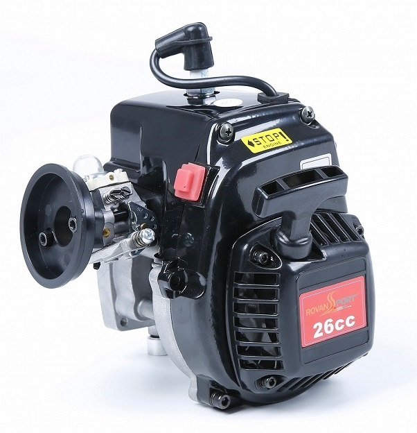 26cc 4 Bolt Engine Fits HPI Baja 5B, 1/5 Buggies, LOSI 5iveT, Redcat, FG and most other 1/5 scale vehicles, GoPeds, etc...