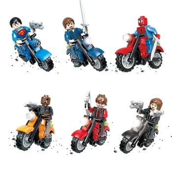 Hot Sale Marvel Super Heroes Avengers Motorcycle Shield Motor 3D Model Figures Building Block Bricks Toys Compatible with Lego 21035 lego