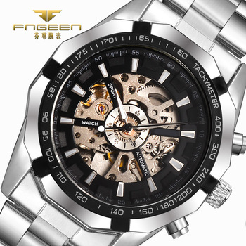 Automatic Watches Mens 2017 Top Luxury Fashion Clock Men Mechanical Watch Skeleton Business Watch Relogio Male Montre Relojes tissot t touch prix