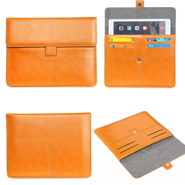 """Universal 7""""-8""""inch Tablet Pouch PU Leather case cover For Vonino Sirius QS/EVO QS/EVO Z/iMart QS bags w/ Cards Holder"""