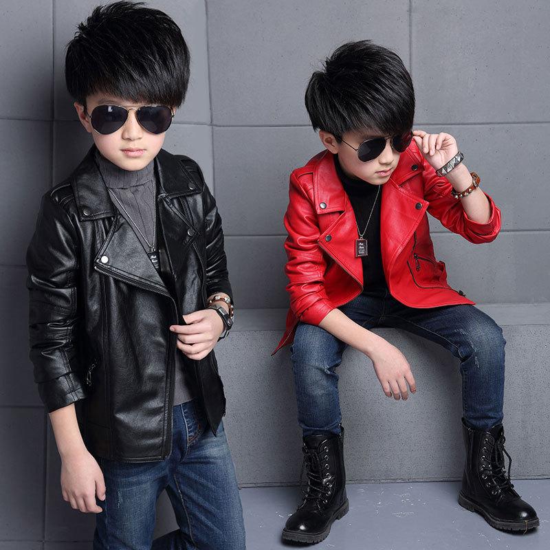 76bede05efb925 New Kids Jackets Kids PU Leather Jacket Boys Coat Autumn PU Leather Jacket  Fashion Children's Warm