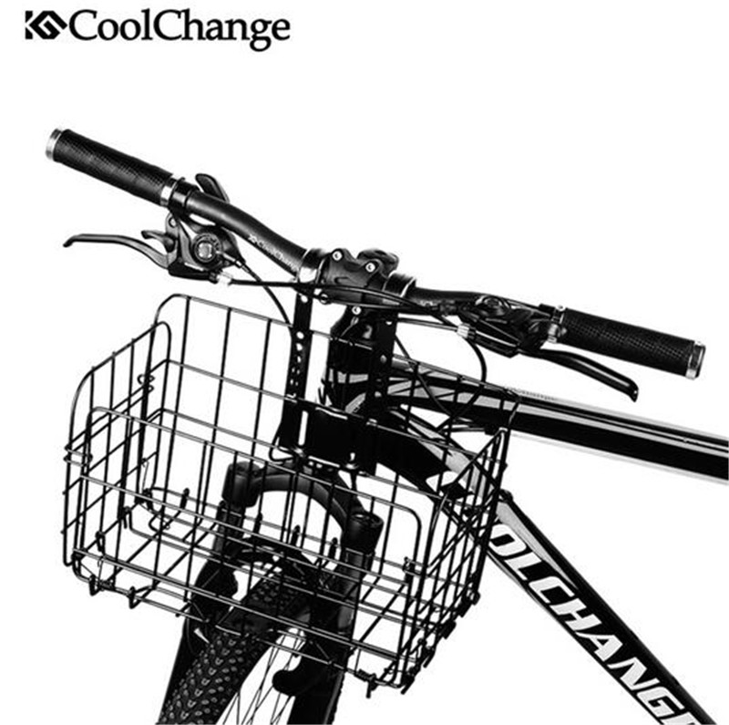 CoolChange Large Volume Bag Front Rear Hanging Bike Storage Foldable Bicycle Basket Road MTB Cycling Portable Accessories