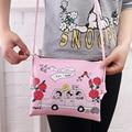 YOUYOU MOUSE Fashion Women Message Bags Cute Cartoon Design Money Handbag Ladies Clutch Zipper Crossbody Bag Simple Leather Bag