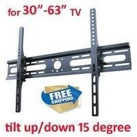 free shipping Steel 60kg 600X400 tv WALL MOUNT bracket 30 63 tilt down wall mount for tv support angle adjustable metal bracket
