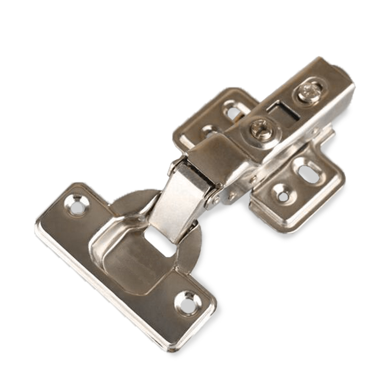Half Overlay Hinge Stainless Steel Door Hydraulic Satin Nickel Hinges Buffer Soft Close For Cabinet Furniture Hardware stainless steel door hinges hydraulic buffer automatic closing door spring hinge 125 78mm furniture cabinet drawer hardware