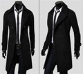 2016 Stylish Men's Trench Coat Winter Long Jacket Double Breasted Overcoat Outwear XIUTAO AXIN
